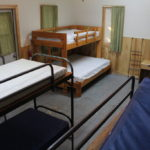 Each of the village cabins includes a double bed.