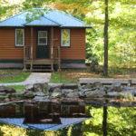 Our three 3-season Village Cabins each sleep 10 people.
