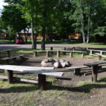 Fire Ring with bench seating